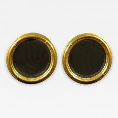 A Pair of Regency Giltwood Convex Mirrors - 876101