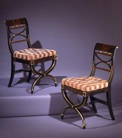 A Pair of Regency Painted Side Chairs - 874524