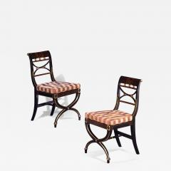 A Pair of Regency Painted Side Chairs - 876093