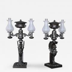 A Pair of Regency Two Light Argands - 251752