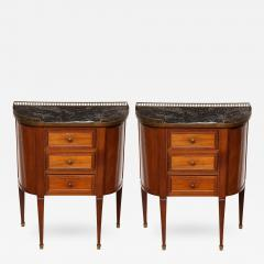 A Pair of Sheraton Style Bed Side Tables - 349249