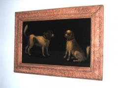 A Pair of Spaniels with Fanciful Collars of Lace Leather and Metal Studs - 280257