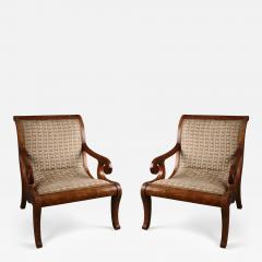 A Pair of Spanish Colonial Neoclassical Armchairs Vto De Nva Espana ca 1830 - 223094