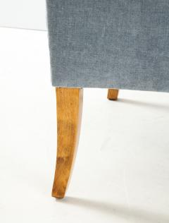 A Pair of Swedish Birchwood and Upholstered Club Chairs Circa 1940s - 1690200
