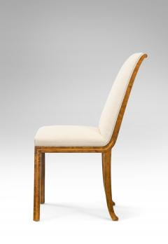 A Pair Of Swedish Grace Period Birch And Rosewood Chairs   350756