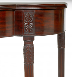 A Philadelphia Carved Mahogany Reeded Leg Pier Table with Bulb Carved Legs - 40682