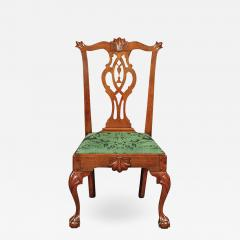 A Philadelphia walnut tassel back side chair - 1468606