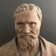 A Plaster Bust of Michelangelo - 2108054