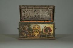 A Polychrome Painted Iron And Engraved Blued Steel Strongbox Of Small Scale - 1411601
