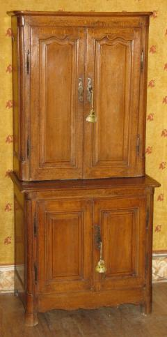 A Rare Beech Wood Unusually Small Cabinet Deux Corps - 271041