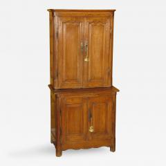 A Rare Beech Wood Unusually Small Cabinet Deux Corps - 273183