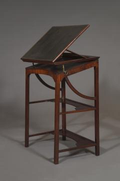 A Rare Early George III Mahogany Double Ratcheted Reading Cum Drawing Table - 1479107