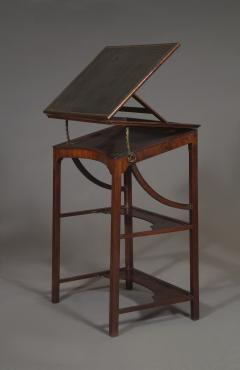A Rare Early George III Mahogany Double Ratcheted Reading Cum Drawing Table - 1479109