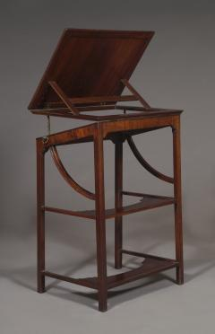 A Rare Early George III Mahogany Double Ratcheted Reading Cum Drawing Table - 1479113