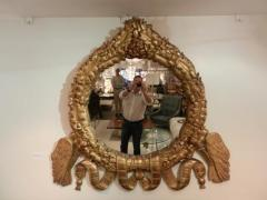 A Rare Grand Scaled Antique Gilt Wall Mirror - 255696