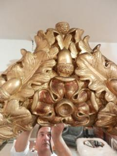 A Rare Grand Scaled Antique Gilt Wall Mirror - 255698