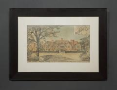 A Rare Group Of Five Perspective Drawings Designed By Robert Weir Schultz - 1882502