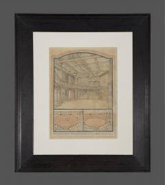 A Rare Group Of Five Perspective Drawings Designed By Robert Weir Schultz - 1882503