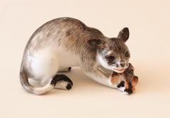 A Rare Meissen Model of a Wildcat with Prey - 79625