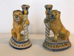 A Rare Pair of Faience Lions - 468118