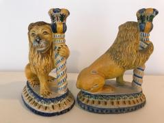 A Rare Pair of Faience Lions - 468119
