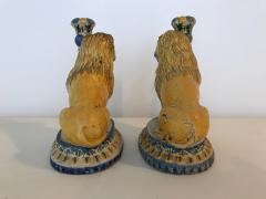 A Rare Pair of Faience Lions - 468120