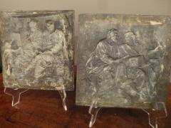 A Rare Pair of Italian Gilt Lead Plaques - 131873