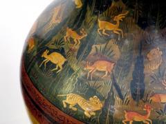 A Rare Pair of Kashmiri Indo Persian Lacquered Copper Vases - 610527