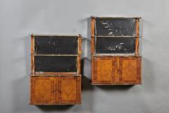 A Rare Pair of18th Century Louis XVI Hanging Shelves in Rosewood and Tulipwood - 184523