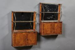 A Rare Pair of18th Century Louis XVI Hanging Shelves in Rosewood and Tulipwood - 184526