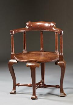A Rare Pairing of Extraordinary George II English Walnut Windsor Armchairs - 184449