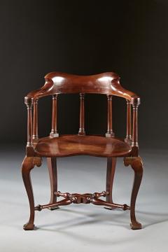 A Rare Pairing of Extraordinary George II English Walnut Windsor Armchairs - 184455