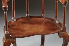A Rare Pairing of Extraordinary George II English Walnut Windsor Armchairs - 184456
