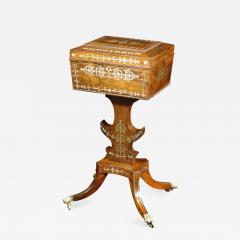 A Regency Brass Inlaid Tea Poy - 876103