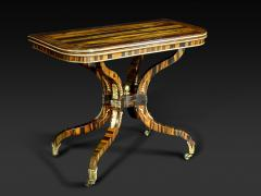 A Regency Calamander Wood Console Games Table - 873542