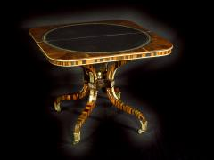 A Regency Calamander Wood Console Games Table - 873544