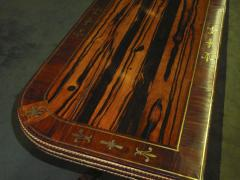 A Regency Calamander Wood Console Games Table - 873548