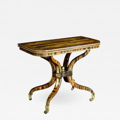 A Regency Calamander Wood Console Games Table - 874393