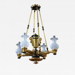 A Regency Four Light Suspended Argand - 828981