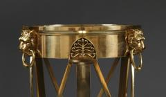 A Regency Gilt Brass Jardiniere Stand Closely Based on A Design By Thomas Hope - 354836