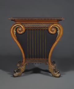A Regency Lyre Form Rosewood And Giltwood Console Table - 1814040