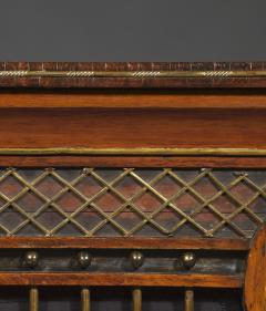 A Regency Lyre Form Rosewood And Giltwood Console Table - 1814044