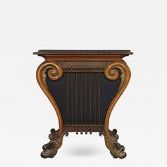 A Regency Lyre Form Rosewood And Giltwood Console Table - 1816013