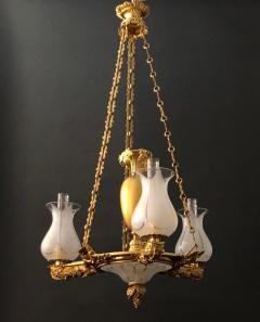 A Regency Three Light Suspended Argand - 1186485