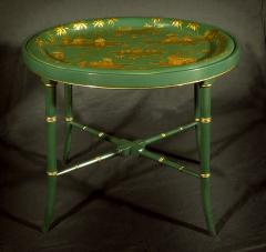 A Regency Tole Tray on Stand - 1306353