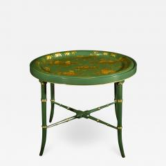 A Regency Tole Tray on Stand - 1308772