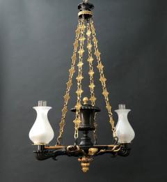 A Regency Two Light Suspended Argand - 1085337
