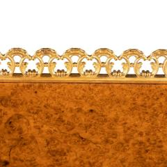 A Regency amboyna breakfront side cabinet - 1224444
