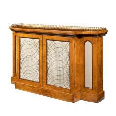A Regency amboyna breakfront side cabinet - 1224446