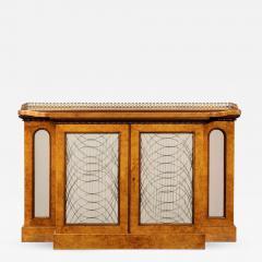 A Regency amboyna breakfront side cabinet - 1224487